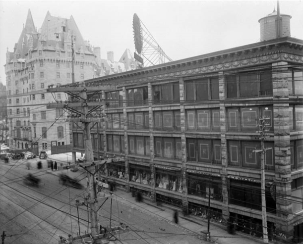 "The ""Daly Building,"" circa 1913, when owned by the Rea Brothers. Photo/ Library and Archives Canada, Topley Studios, I.D. # 3411920."