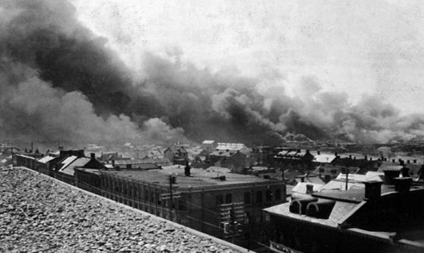 Hull in Flames, 26 April 1900. Photo/ Historical Society of Ottawa