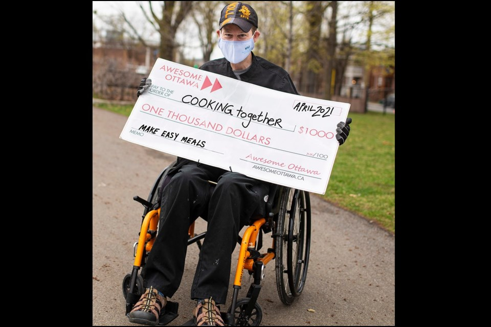Richard Stewart earned a reward for teaching people living with disabilities to cook healthy meals. Photo/ Awesome Ottawa
