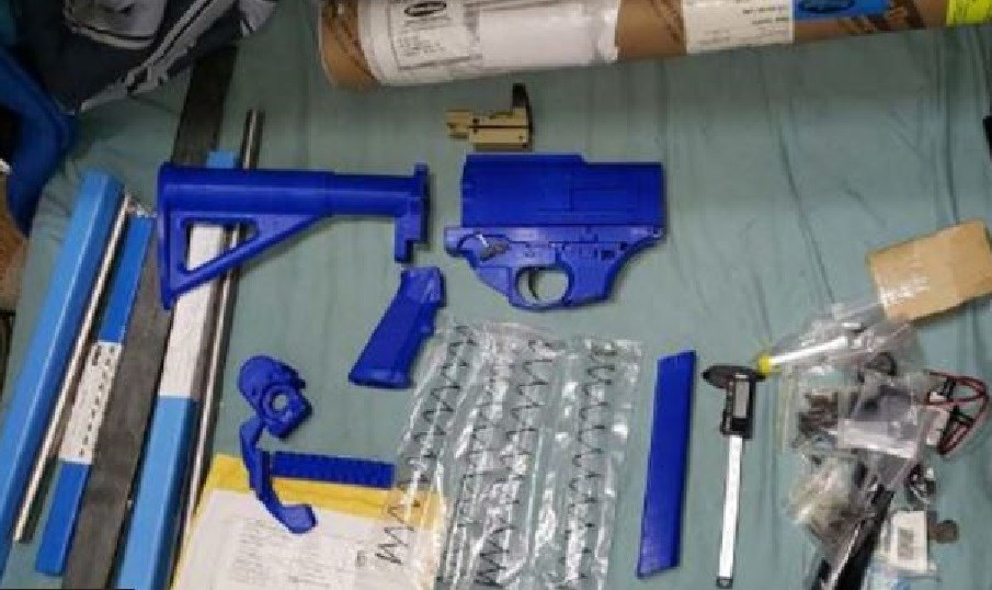 3D printed weapon parts found at a home in North Frontenac, March 24, 2021. Photo/ OPP