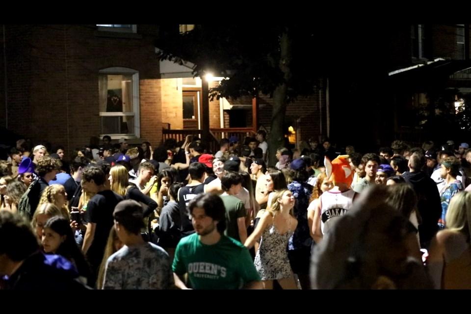 Kingston house party, July 4, under investigation by police. Photo/ Kingston Police Service