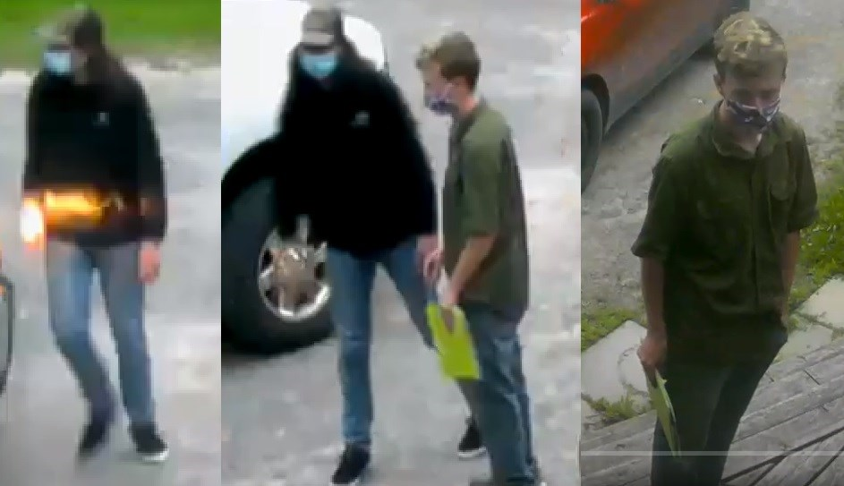 Suspects in the theft of a Dodge Ram in Osgoode, July 28, 2021. Photo/ Ottawa Police Service