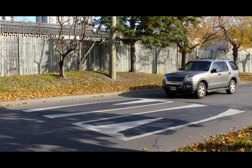 Virtual speed humps were installed on Othello Avenue in August, but residents say they aren't helping to solve the street's speeding problem. Drew May/ OttawaMatters.com