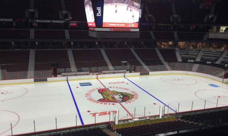2015 Canadian Tire Centre ice