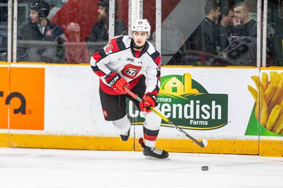 2019-12-02 Kevin Bahl Ottawa 67's defenceman