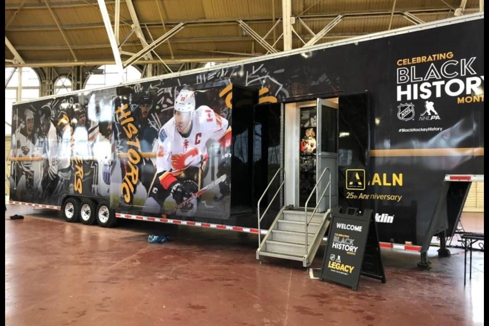 NHL's Black History Month mobile museum in Ottawa, February 3, 2020. Chris Kurys/ OttawaMatters.com