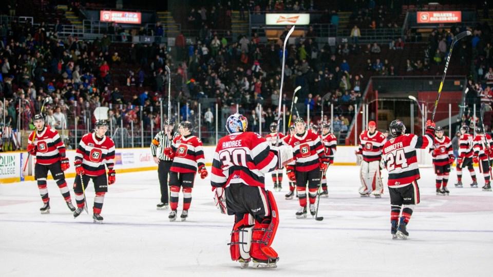 2020-04-02 Ottawa 67's stick salute