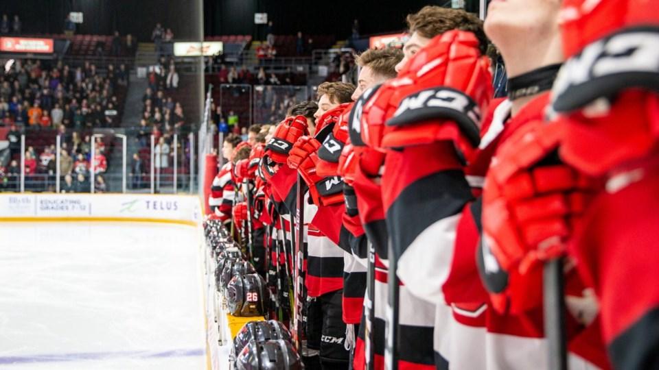 2020-04-02 Ottawa 67's team bench