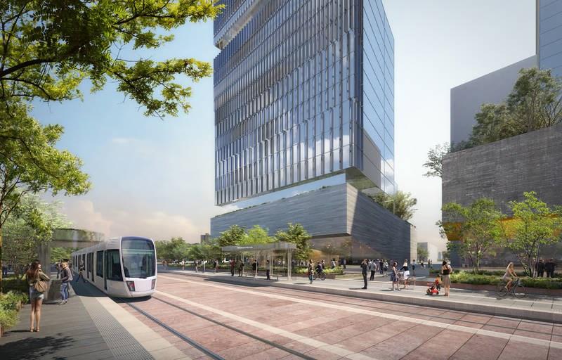 2021-05-13 rendering of gatineau STO tramway
