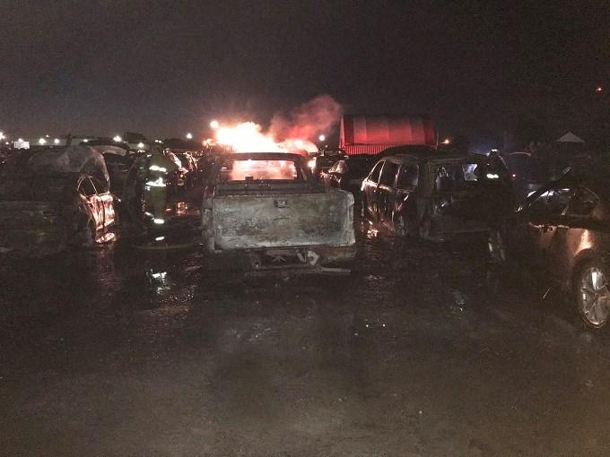 Vars Car Auction fire
