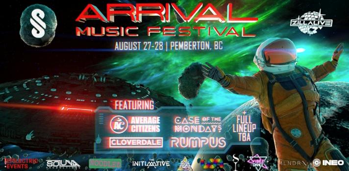 Arrival Music festival - Pemberton BC 2021 promo