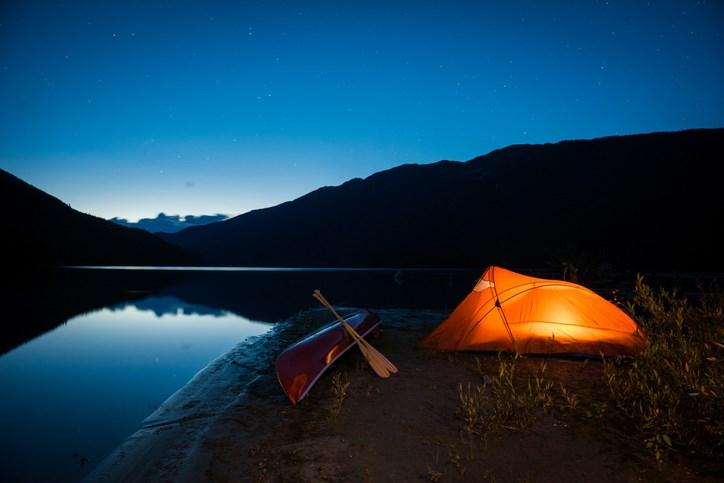 Camping at Cheakamus Lake in Garibaldi Provincial Park - Whistler BC