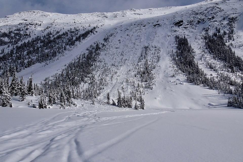 poop chutes phalance blackcomb glacier - whisler avalanche - wayne flann
