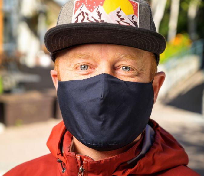 Whistler mayor Jack Crompton masks up against coronavirus