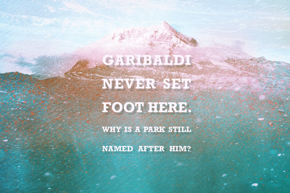 Garibaldi never set foot here. Why is a park still named after him? It's the 100th anniversary of the Garibaldi Park Reserve. The Squamish Nation know the mountain as Nch'kay', a place of refuge during the Great Flood. Story by Martha Perkins / Local Journalism Initiative