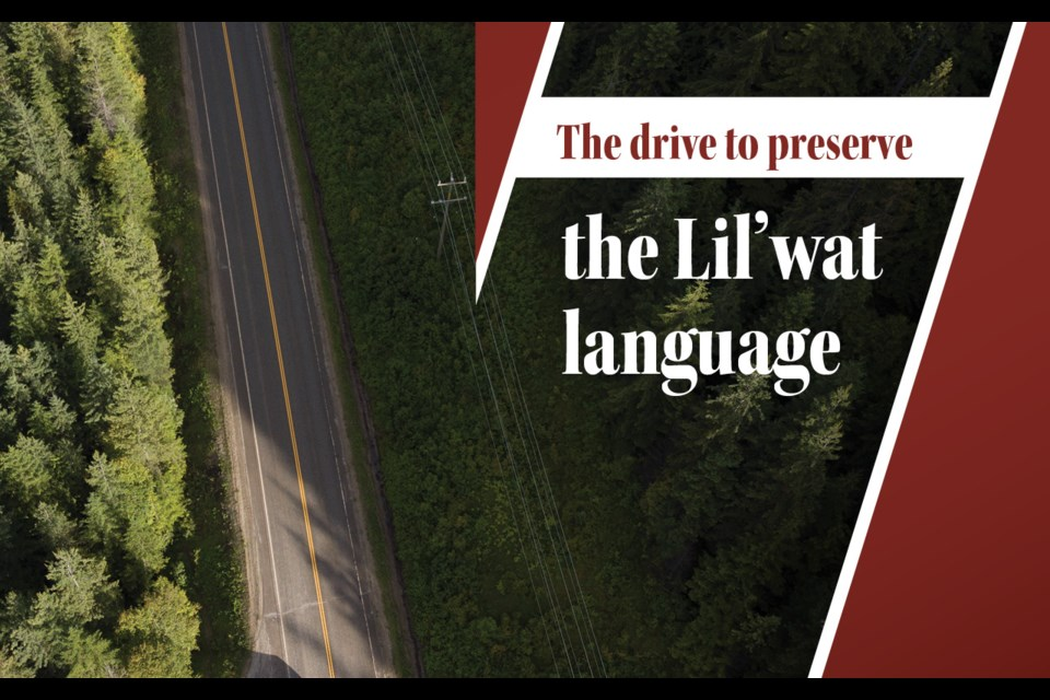 The drive to preserve the lil'wat Language.