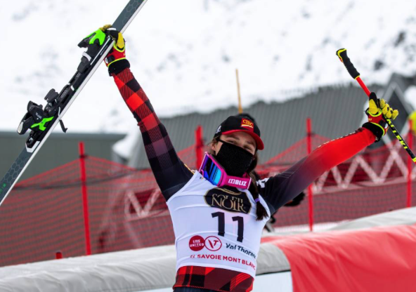 Marielle Thompson skied her way to three podiums in four races this December - Photo by GEPA Pictures:Courtesy of Alpine Canada