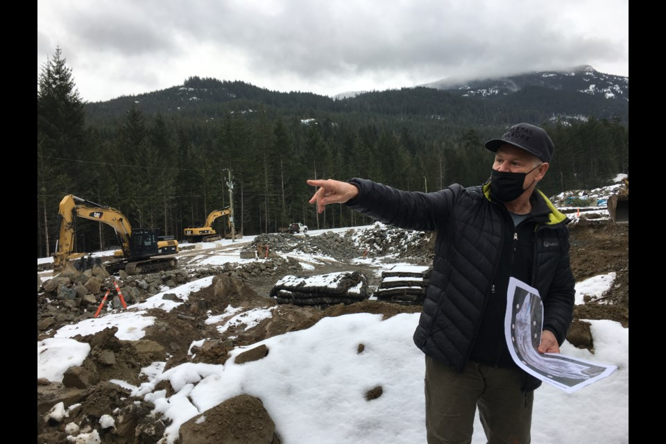 Whistler Councillor Duane Jackson during a tour of Phase 2 in Cheakamus Crossing on March 1. With interest rates low, officials are stressing urgency around building new housing.