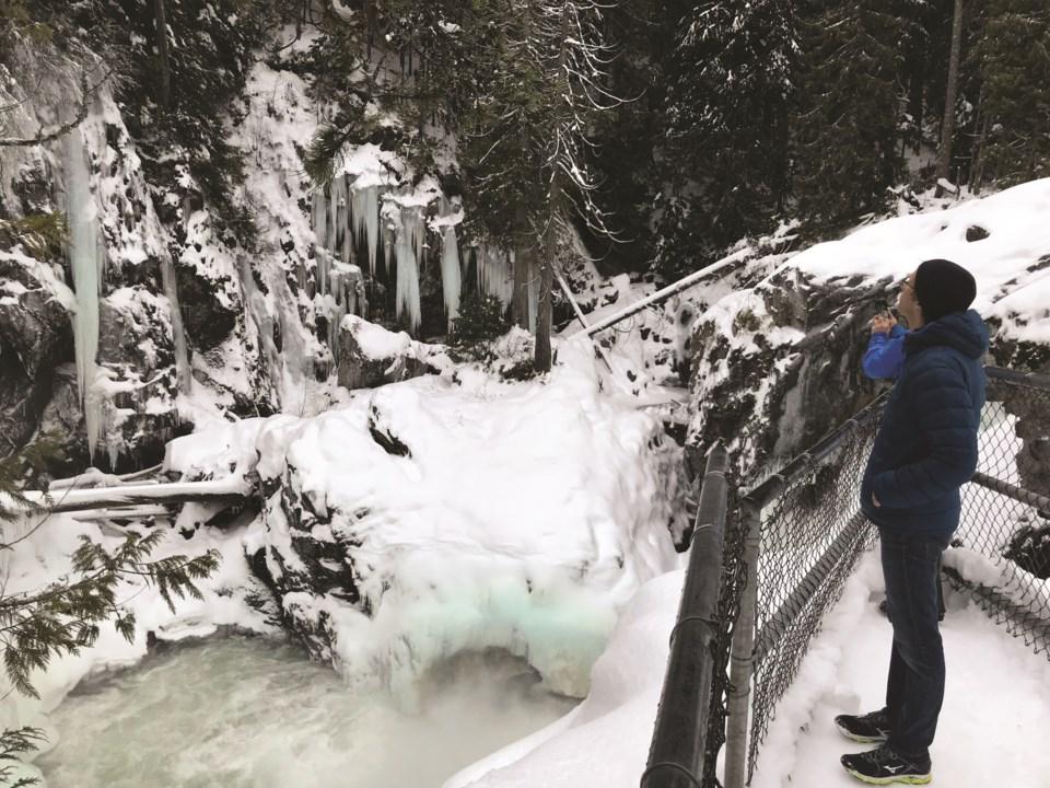 Nairn Falls in winter Photo by Alyssa