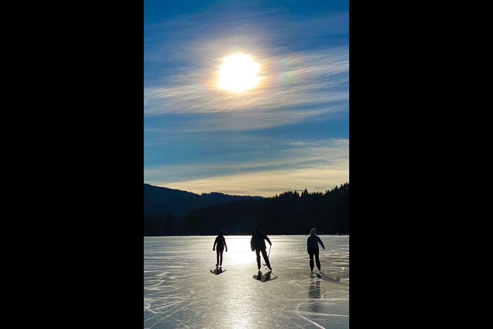 LAKE SKATE Everything came together to create the perfect conditions for a sunny skate on newly frozen Alta Lake on Saturday, Jan. 23.