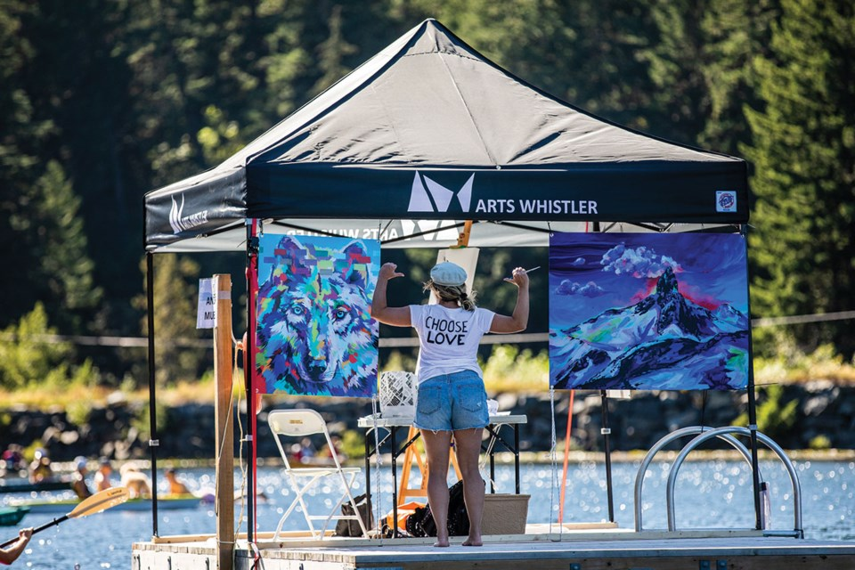 ART ON THE LAKE On Thursday, August 27 Photo by Jeremy Allen/The Full Time Hobby courtesy of Arts Whistler