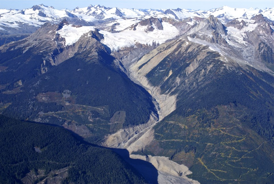 Mount Meager slide Photo by Frank Bauman