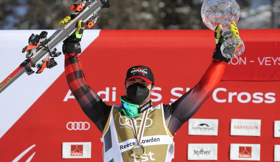 Reece Howden Crystal Globe win - Team Canada - Cultus Lake BC - ski cross World Cup - courtesy Alpine Canada
