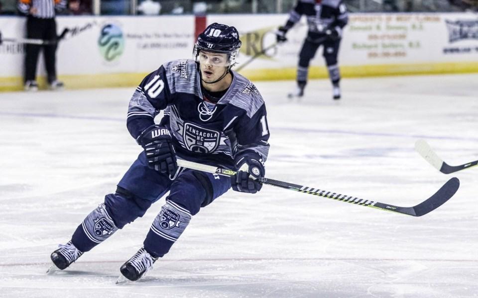 S-Garrett Milan - photo courtesy of Andi Re:Pensacola Ice Flyers
