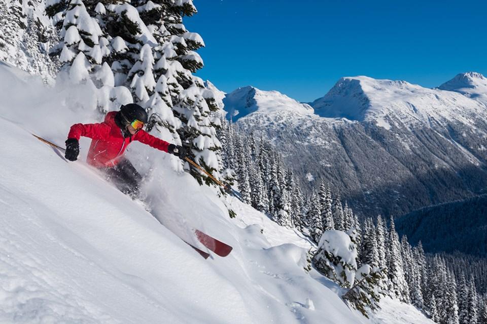 whistler blackcomb powder skiing