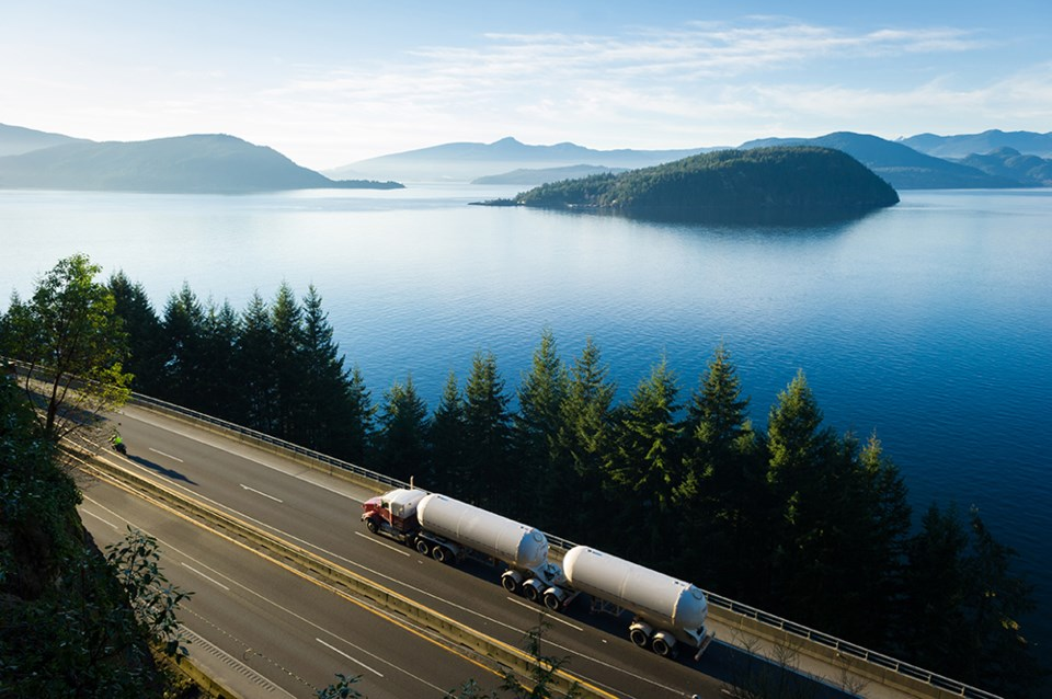 natural gas - sea to sky highway bc - transportation - whistler