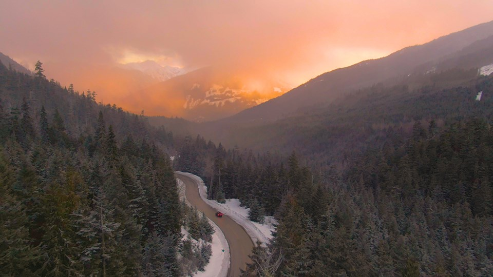 sea to sky highway whistler squamish sunset