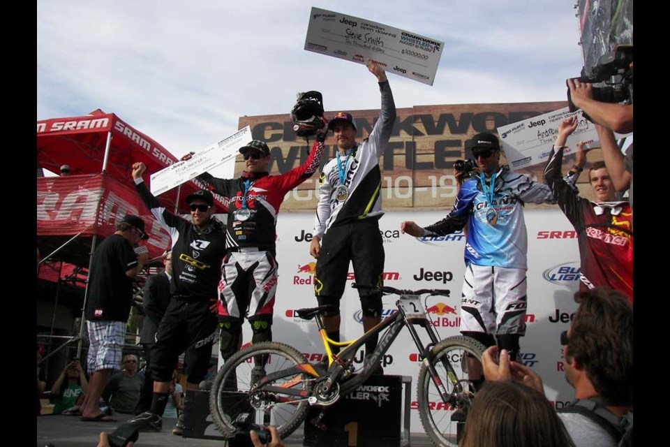CRANKED UP Steve Smith wrapped up Crankworx with his $10,000 win at the Canadian Open Men's DH. Photo by John French