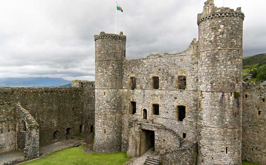 Harlech Castle is a pivotal piece of Welsh history