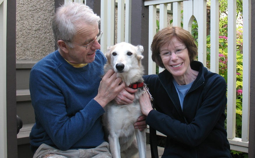 HAPPY HOUND Beaver with Jim and Louise Nasmith at their home in Vancouver. Photo submitted