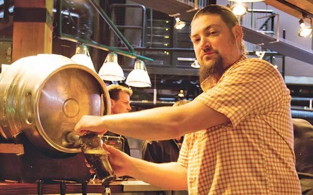 Brewmaster Derrick Franche has been steering the Brewhouse for the last two years. His 5 Rings IPA won best IPA at last year's B.C. Beer Awards. Photo by Vince Shuley.