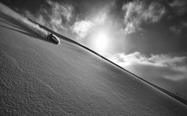 Ian Morrison lines up another one at Northern Escape Heli in Terrace, B.C. Photo by Paul Morrison
