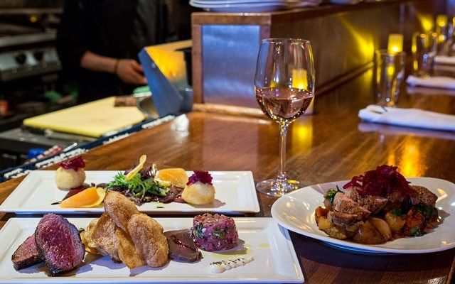 "Best Appetizers/Tapas: Best appetizers goes to Elements, and featured here are Bison 3 ways, Goat cheese and beets, and their new Roasted Duck dish. <a href=""http://coastphoto.com/"">Coastphoto.com</a> / Brad Kasselman"