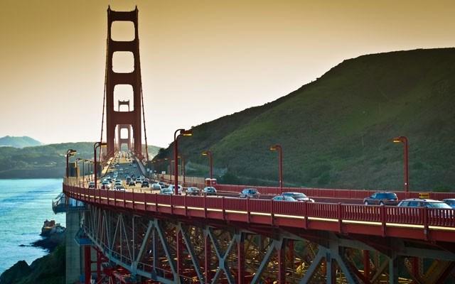 """Golden Gate bridge seen from Vista Point, Sausalito. Photo from <a href=""""http://shutterstock.com/"""">Shutterstock.com</a>"""