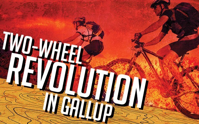 Two-wheel revolution in Gallup. Can a bunch of trails and bikes transform this down-and-out New Mexico town?. Story by Jonathan Thompson. Photos by Andrew Cullen