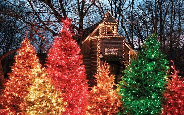 Silver Dollar City's An Old Time Christmas dazzles with more than five-million lights throughout the park, a five-story special effects Christmas Tree and Light Parade, and original music productions of It's a Wonderful Life and A Dickens' Christmas Carol. The festival runs from Nov. 1 - Dec. 30 at the Branson, Missouri Theme Park. www.silverdollarcity.com . Photo submitted
