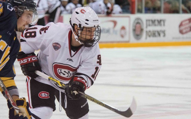 Hard-working Husky Whistler's Garrett Milan has been in and out of St. Cloud State's lineup this year, but he's pushing for opportunity. Photos Courtesy Of The St. Cloud State University Athletic Department