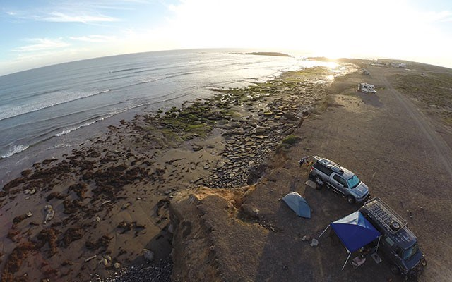 Our oceanfront campsite at Punta San Carlos. Photo by Steve Andrews
