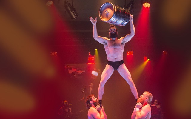 """Members of Cirque Alfonse give new meaning to the term """"keg stand."""". Photo Contributed"""