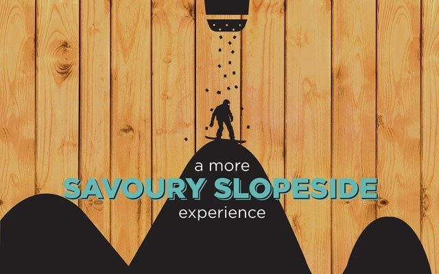 A more savoury Slopeside experience. By Cindy Filipenko