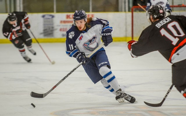 wish granted Grant Iles is thrilled to be the newest member of the Creston Valley Thunder Cats. Photo by Jeff Banman