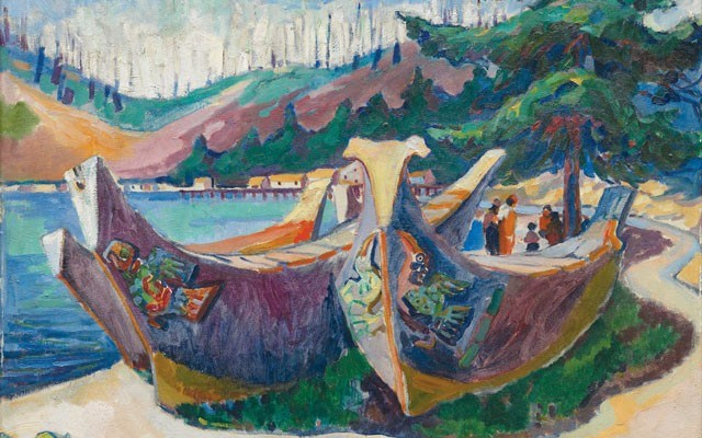 War Canoes, Alert Bay by Emily Carr