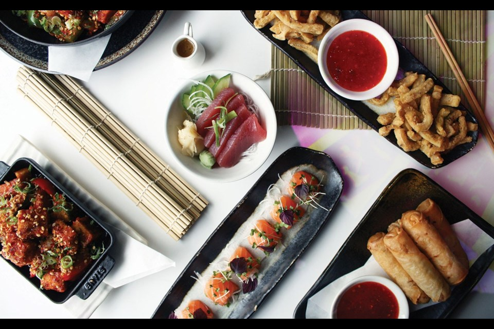 A selection of new sushi dishes at Inamo. Photos courtesy @inamorestaurant