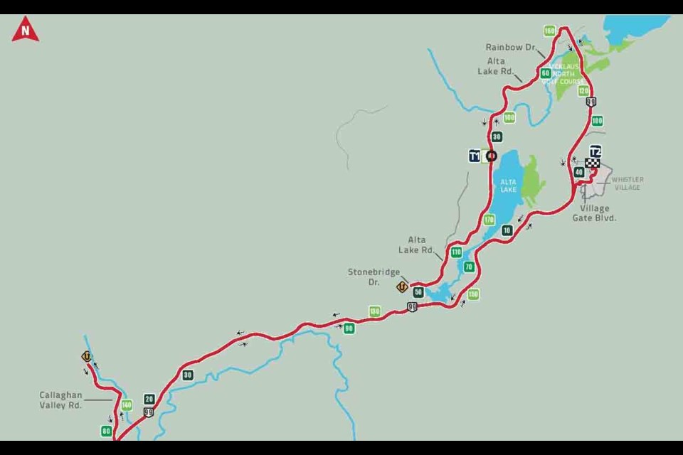 The new bike course for the full-distance Subaru Ironman Canada is shown. Image submitted