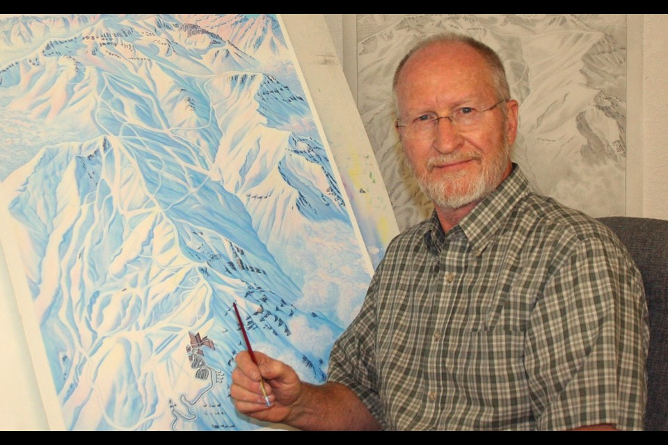 James Niehues has painted over 200 trail maps over his career. photo submitted