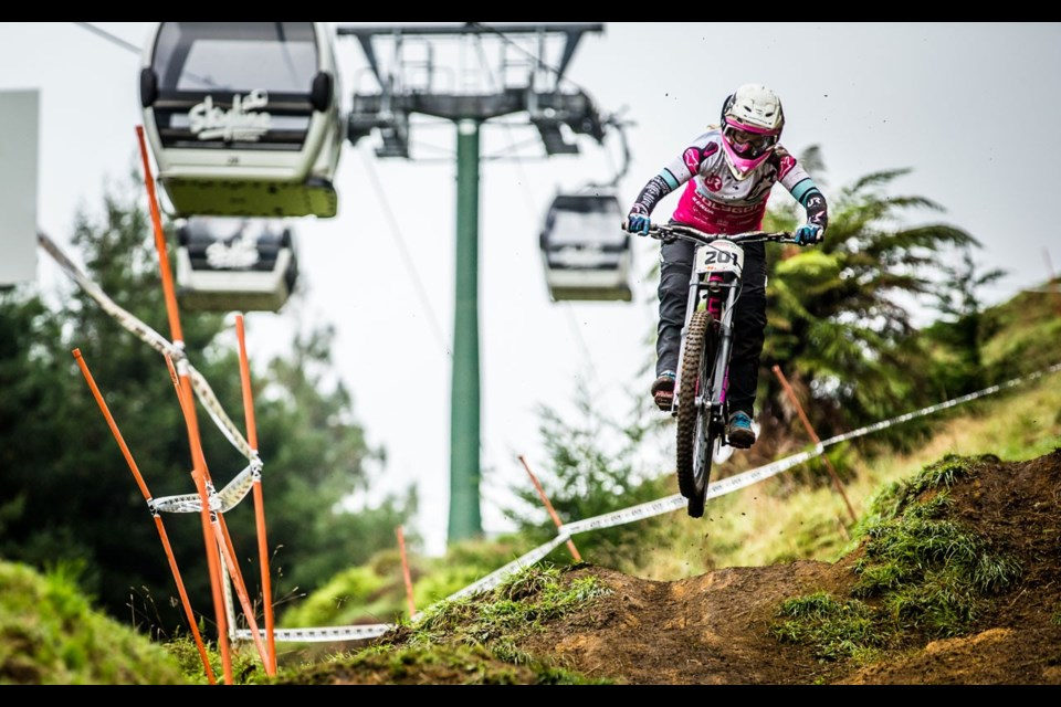 CRANKED UP Australian star downhiller Tracey Hannah will look to start the season strong when Crankworx Rotorua starts up on Tuesday, March 19. <cDiacVPos:><pDropCapDetail:><pAbsorbIdeoSpace:><ParaStyle:CUTLINE\:CUTLINE Credit><pDropCapDetail:LeftGlyphEdge><pAbsorbIdeoSpace:1><cDiacVPos:5>Photo by Boris Beyer/Crankworx<cDiacVPos:><pDropCapDetail:><pAbsorbIdeoSpace:>